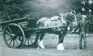Horse drawn cart at Gunnersbury in the early days of the public park