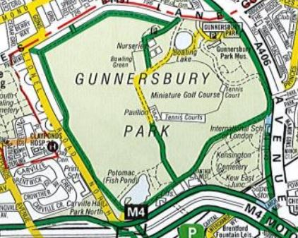 cycling in Gunnersbury